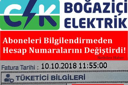 CLK Boğaziçi Elektrik Hesap Numarası Değişikliği Soygunu!