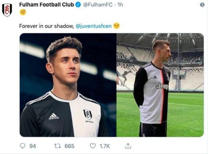 f93292a44a3 Fulham Mock Juventus Because Of 19-20 Home Kit - Delete Tweet ...