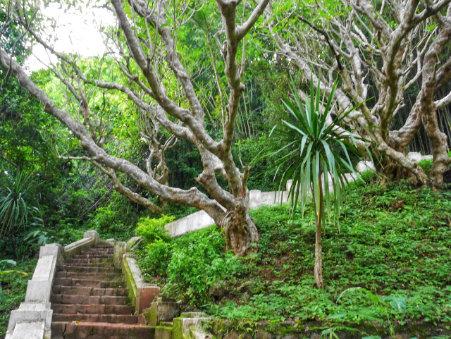 the stairs to the top of Mount Phousi in Luang Prabang, Laos