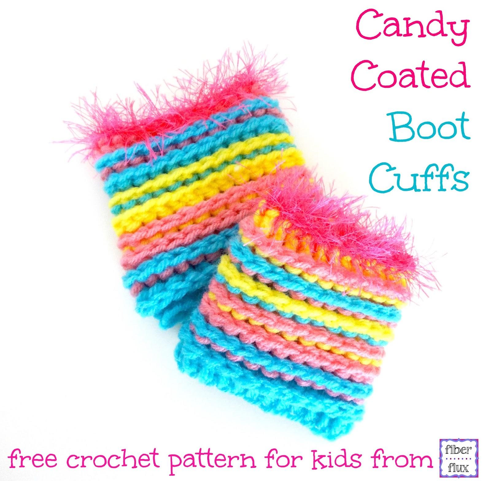 Fiber Flux: Free Crochet Pattern...Candy Coated Boot Cuffs!