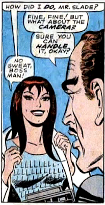Amazing Spider-Man #59, john romita, don heck, at the club, mary jane watson puts her coat on and asks her new boss mr slade how she did
