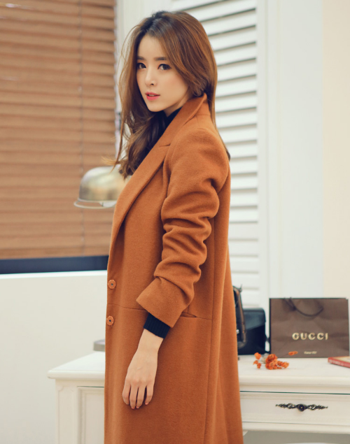 Open-Front Notched Lapel Coat