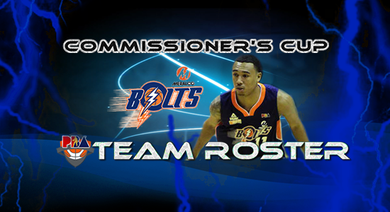 List of Meralco Bolts Roster (Lineup) 2017 PBA Commissioner's Cup