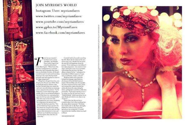157e00ae5 بالصور..ميريام فارس باثارة انيقة كفتاة استعراض على صفحات مجلة Velvet