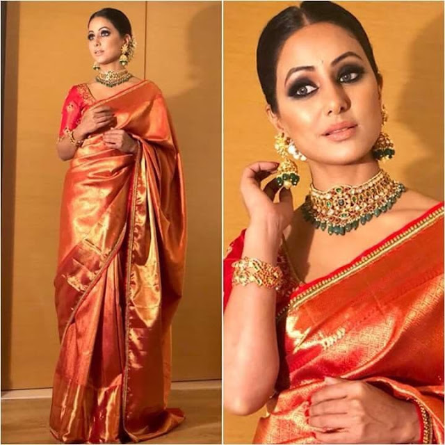 Red Gold Pure Kanjeevaram Saree