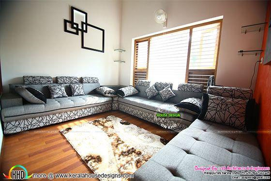 Living room furnished interior
