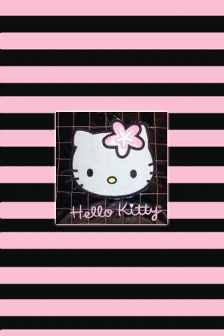 Hello Kitty Pink Stripe Wallpaper Home Furniture Diy Home