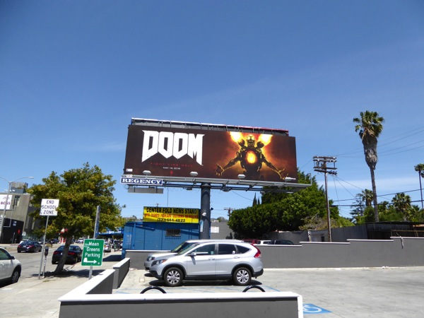 Doom game billboard