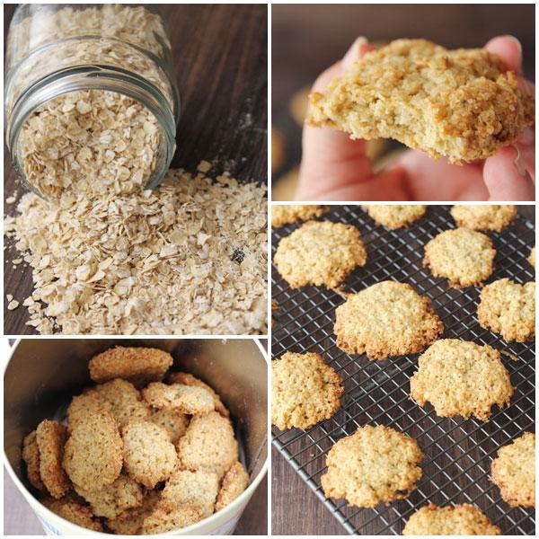 como hacer galletas de avena para dieta
