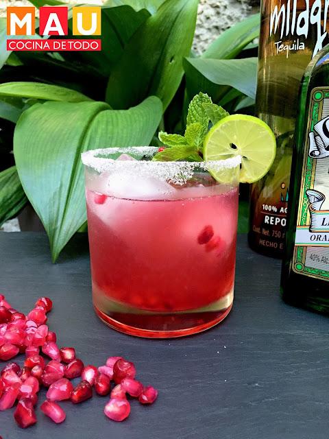 bebida con tequila granada margarita
