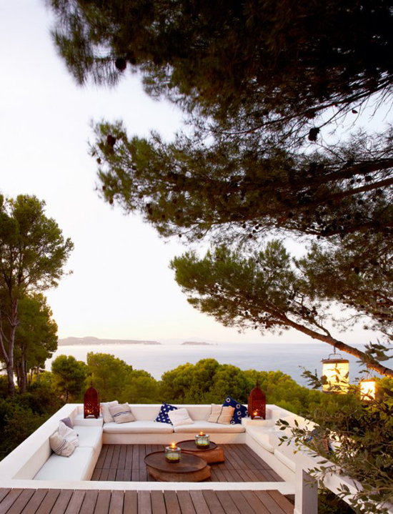 A contemporary summer house in Costa Brava, Spain, via Marie Claire Maison. #terrace #view