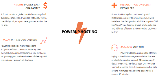Basic Featutres, CPanel Hosting, powerup hosting