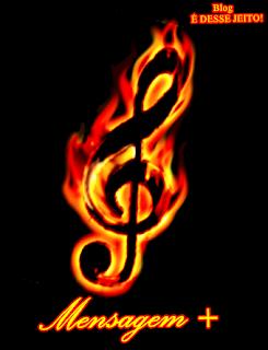 Imagens de notas musicais entre chamas