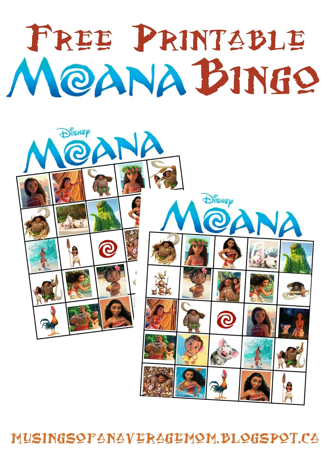 musings of an average mom moana party printables. Black Bedroom Furniture Sets. Home Design Ideas