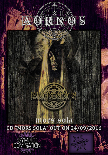 Detail from Aornos New Album, Mors Sola, Detail from Aornos New Album Mors Sola