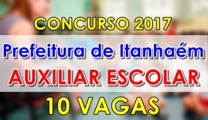 concurso Prefeitura de Itanhaém 2017 - Auxiliar Escolar