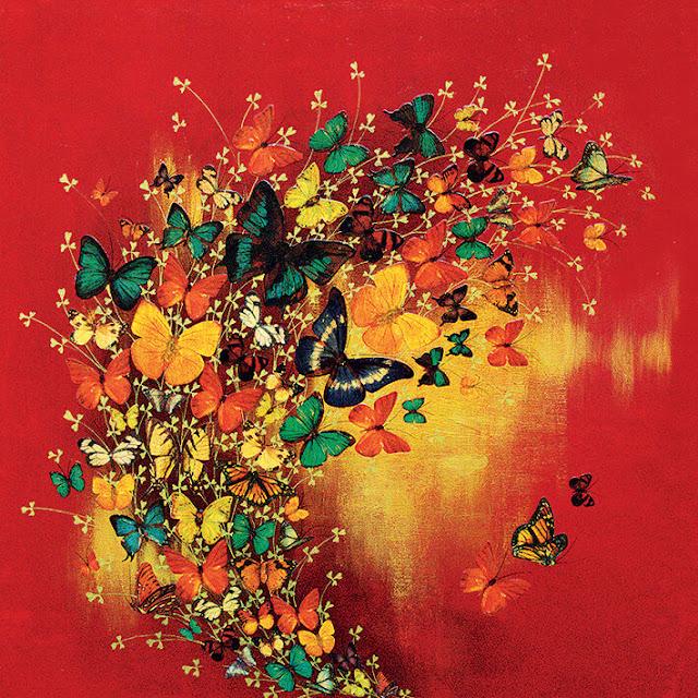obrazy z motylami diy