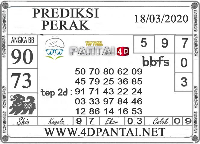 PREDIKSI TOGEL PERAK PANTAI4D 18 MARET 2020