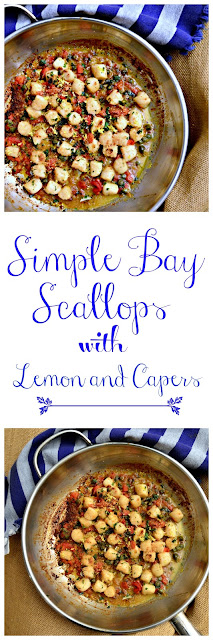 These scallops are super fast and super easy to make. Lots of lemon and garlic and capers. Oh my! www.thisishowicook.com #scalloprecipes #seafood