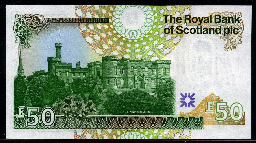 The Royal Bank of Scotland banknotes 50 Pounds Note 2005 Lord Ilay & Inverness Castle|World ...