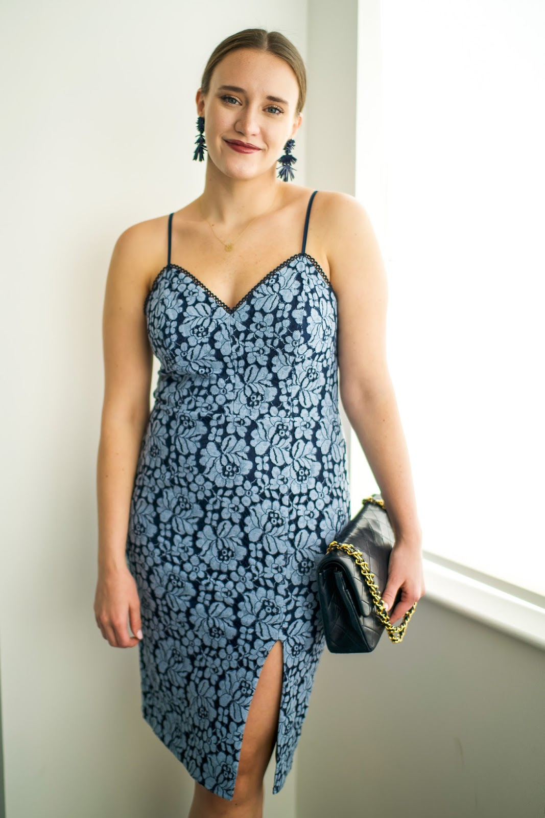 Spring Wedding Guest Outfit by popular New York fashion blogger Covering the Bases