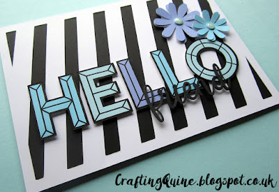 Hello Card by Janet Packer (Crafting Quine) free design #cardmaking #papaercraft #dimension #lettering #hello