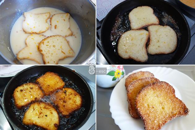 torrijas sin gluten y sin lactosa con crema inglesa