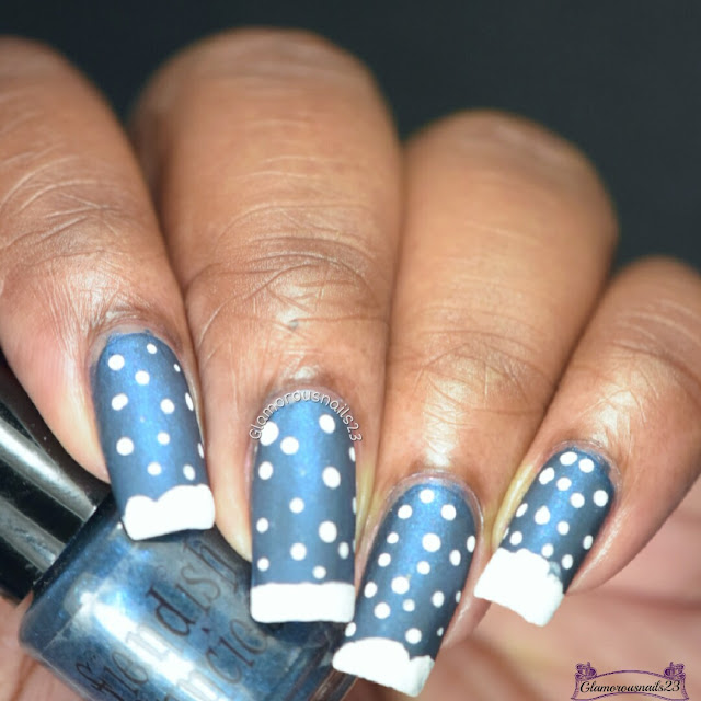 Winter Nail Art Challenge 2016 Day 1 - Snow