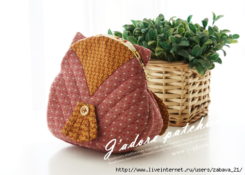 Сумочка или косметичка Сова.  Purse or cosmetic bag Owl.