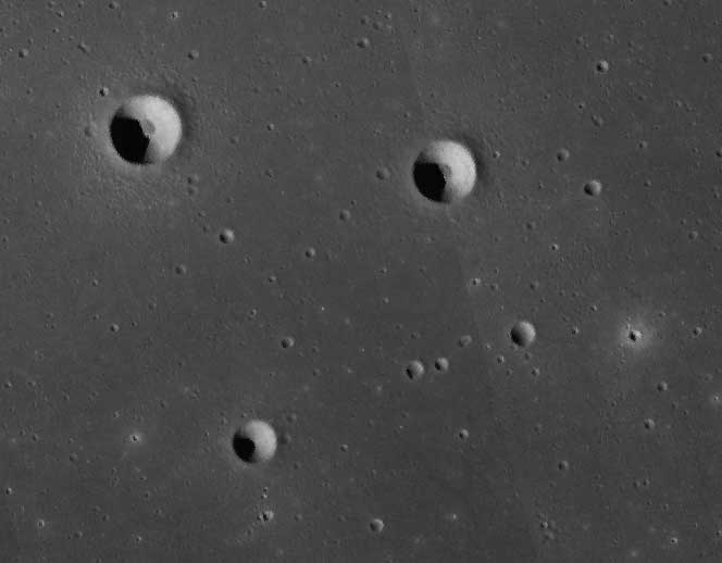 Crisp craters in Mare Imbrium on the Moon