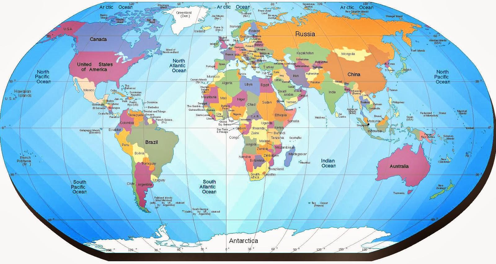 Imagenes Del Mapa Del Mundo Con Nombres