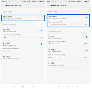 Cara Otomatis Berhenti Musik Di Android: Music Sleep Timer
