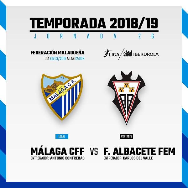 El Málaga Femenino - Albacete Femenino, este domingo 31 de marzo a las 12:00 horas
