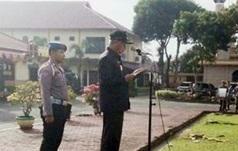 Wakil Bupati Asahan Surya menjadi irup di upacara Hut Bhayangkara ke 72.