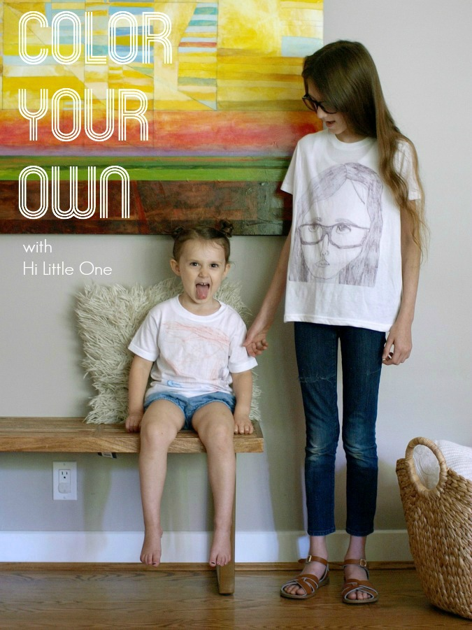 Color Your Own t-shirt with Hi Little One || This Little Miggy