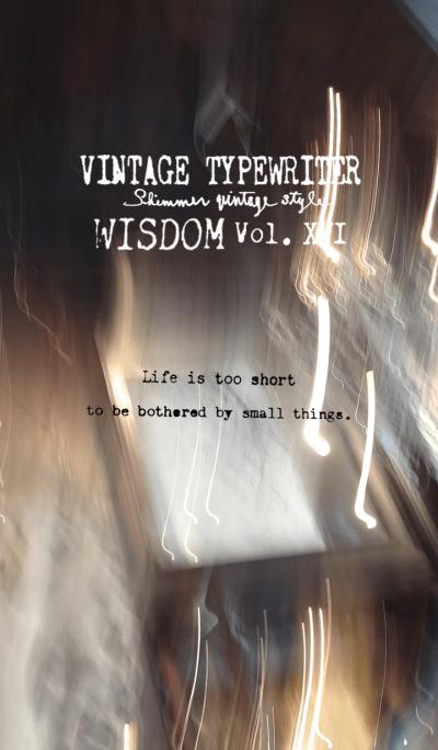 VINTAGE TYPEWRITER WISDOM Vol. XVI