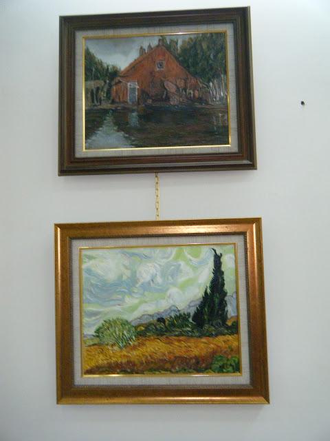 Les peintures de mes élèves à l'expo 10