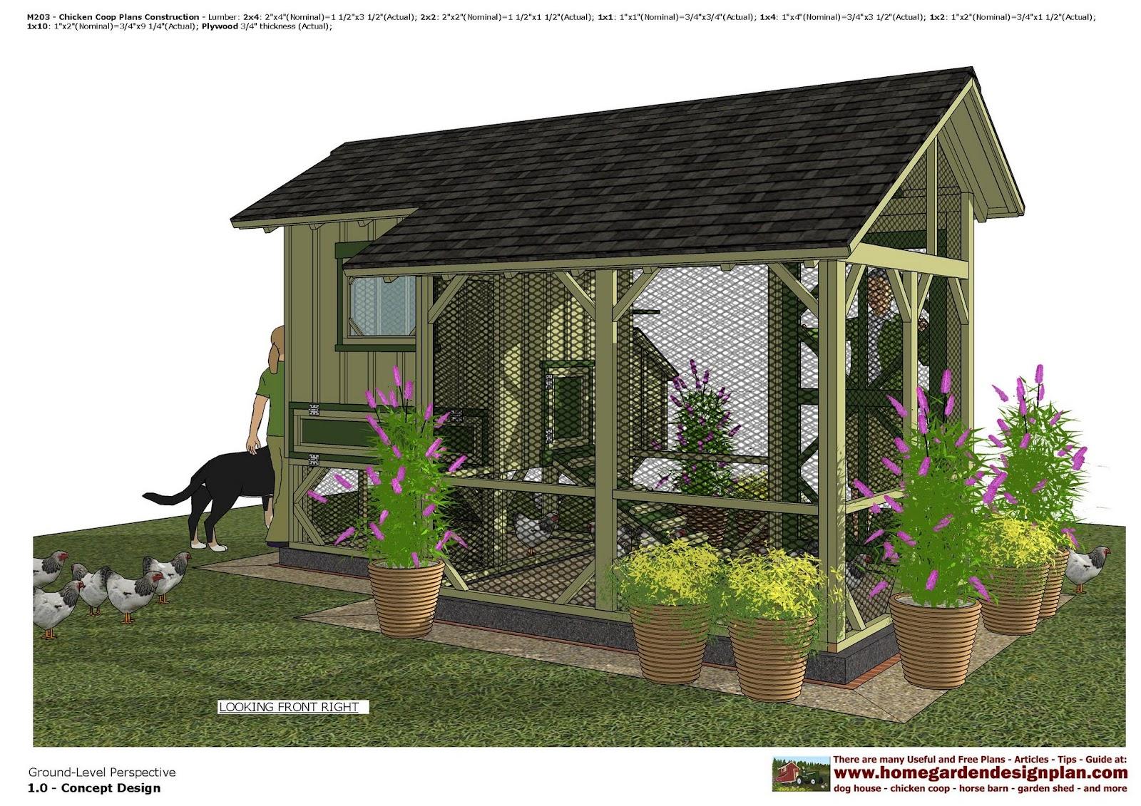 home garden plans m203 chicken coop plans chicken coop design