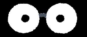 目の描かれた眼鏡のイラスト1
