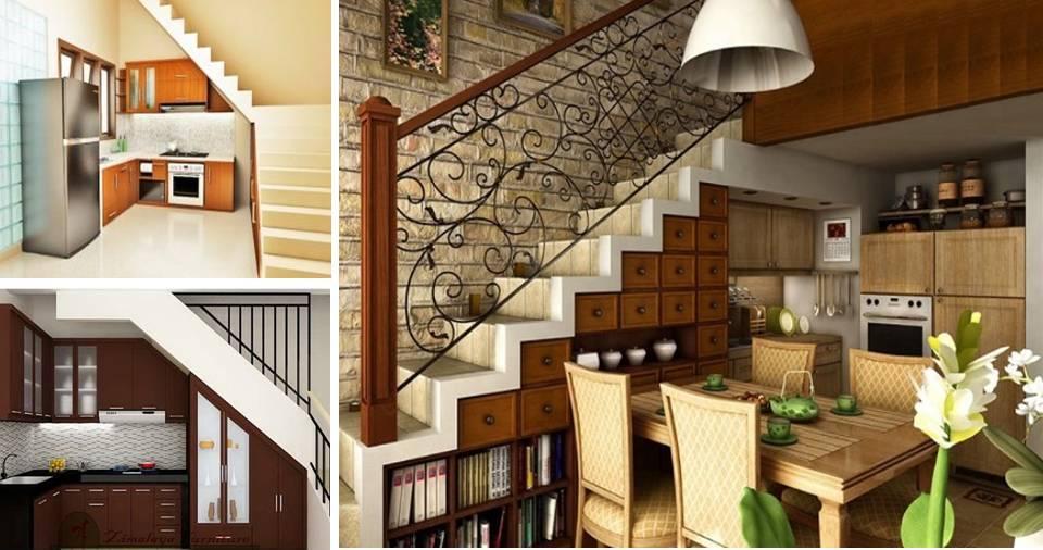 17 Small Under Stairs Kitchen Design Ideas Decor Units   Interior Design Under Staircase   Ideas   Cupboard   Indoor Garden   Spiral Staircase   Shelves