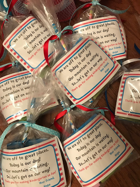 End of Year class gifts - Classroom Goodies - Dr. Seuss themed bags