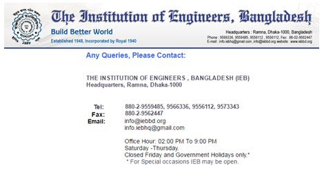 List of IEB Engineering Accredited University in Bangladesh
