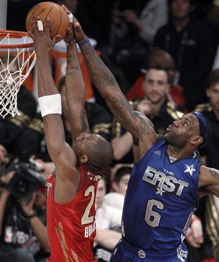You Got Dunked On 2011 Nba All Star Game Kobe Bryant Dunks On Lebron James
