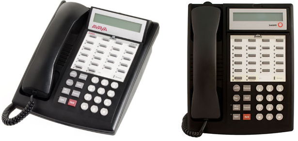 Why does your Avaya Partner 18D Phone say Lucent Technologies