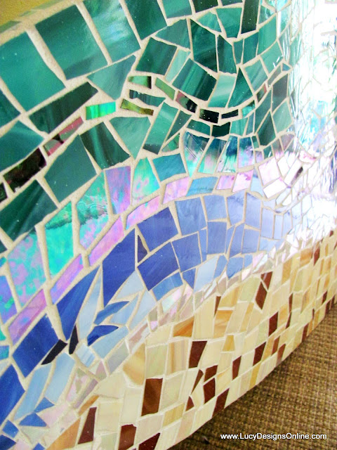 surfboard art mosaic