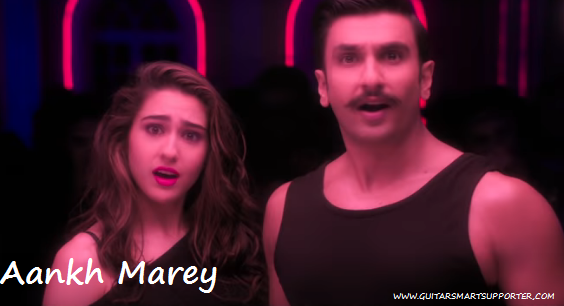 Aankh Marey Guitar Chords with Lyrics | Neha Kakkar