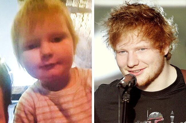 11 Funny Pictures Of Babies Who Resemble Popular Celebrities - This two-year-old girl looks just like Ed Sheeran