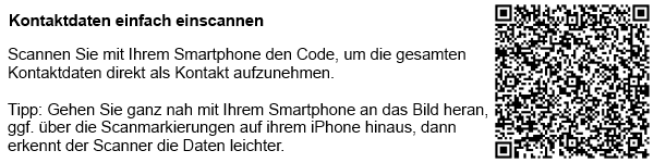 QR-Code der Kontaktdaten