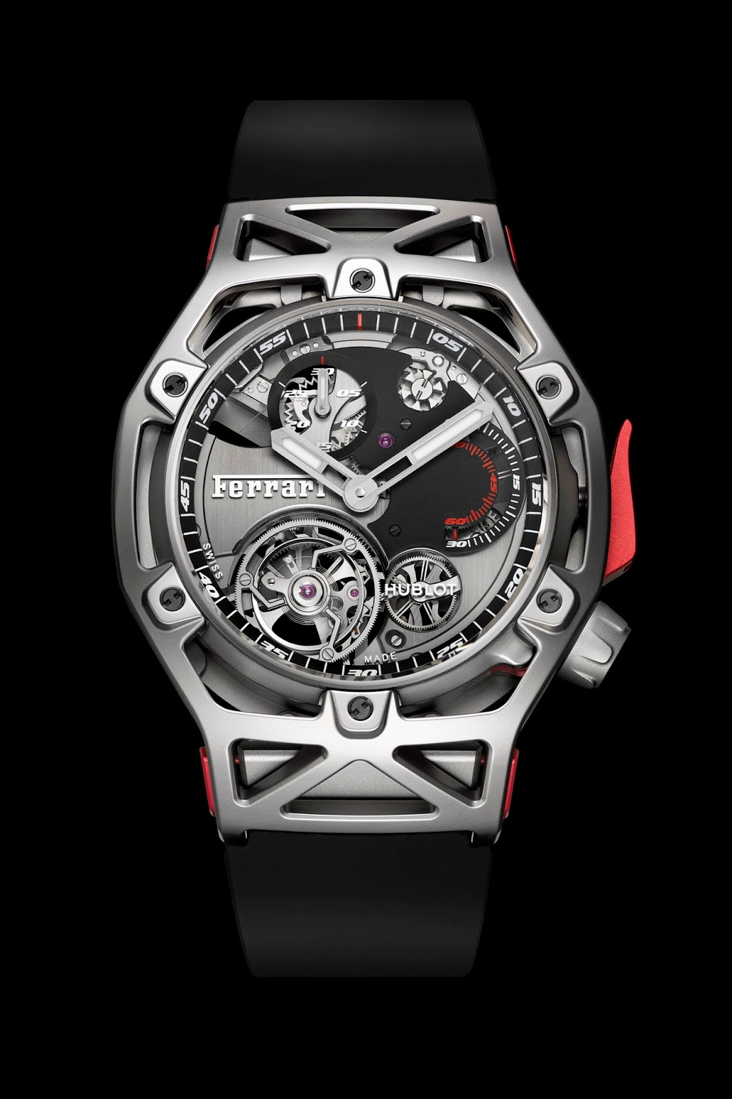 hublot 39 s new tourbillon chronograph is a ferrari for your wrist carscoops. Black Bedroom Furniture Sets. Home Design Ideas