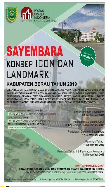 Sayembara Konsep Icon Dan Landmark Tanjung Redeb Kabupaten Berau 2019
